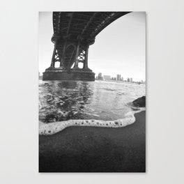 Under The Manhattan Bridge Canvas Print