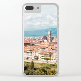 Palazzo Vecchio and Duomo S. Clear iPhone Case