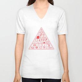 Food Pyramid Unisex V-Neck