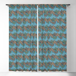 Pine cones pattern Blackout Curtain