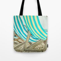depeche mode Tote Bags featuring Vacation Mode by The Last Sparrow