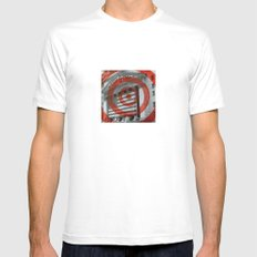 wall street ripple White MEDIUM Mens Fitted Tee