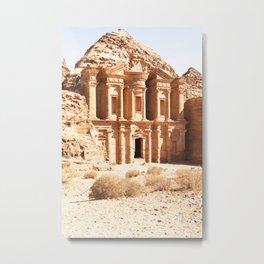 305. The Monastery, Petra, Jordanie Metal Print