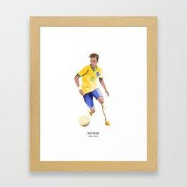 Football Heroes - Brazil - Neymar Framed Art Print