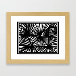 Spalding Abstract Expression Black and White Framed Art Print