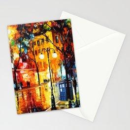 Tardis Time Starry Night Stationery Cards