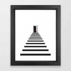 Geometric Stairs Flower Framed Art Print