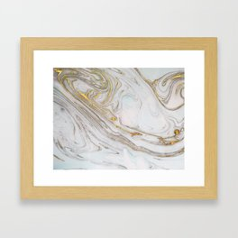 Gorgeous Gold and Marble Print Framed Art Print