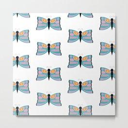 Colorful Butterflies Metal Print