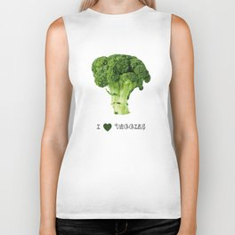 Broccoli - I love veggies Biker Tank