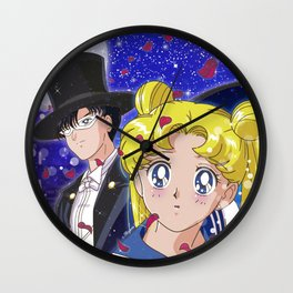 Usagi & Tuxedo Kamen Wall Clock