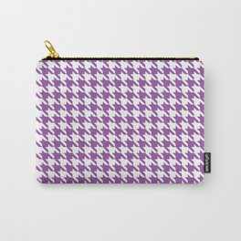 Light Violet Classic houndstooth pattern Carry-All Pouch