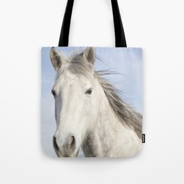 Whit Horse in Color Tote Bag
