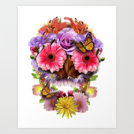 Floraskull Art Print