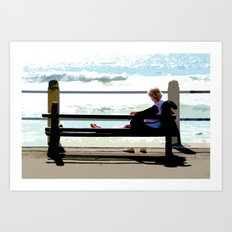 Sea Gaze Art Print