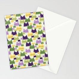 Nala Cat Pattern Lavender Stationery Cards