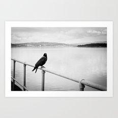 Eerie Bird Art Print