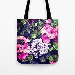 Pink Geraniums, Goddess Energy Tote Bag