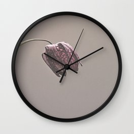 Fritillary Flower Wall Clock