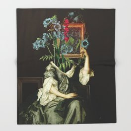 Florales Portrait Disaster Throw Blanket