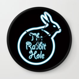 Alice in Wonderland the rabbit hole Wall Clock