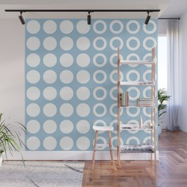 Mid Century Modern Circles And Dots Pale Blue 2 Wall Mural