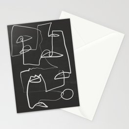 Abstract line art 12/2 Stationery Cards