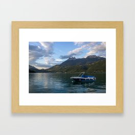 Boat Lake Annecy Framed Art Print