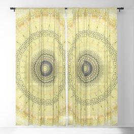 Bumblebee Mandala Design Sheer Curtain
