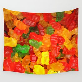 red orange yellow colorful gummy bear Wall Tapestry