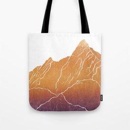 Colorado Mountain Ranges_Boulder Flat Irons Tote Bag