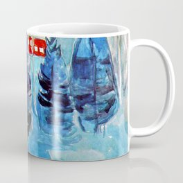 "Edvard Munch ""Red House and Spruces"" Coffee Mug"