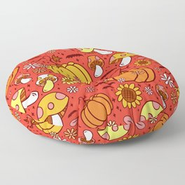 Psychedelic Fall Floor Pillow