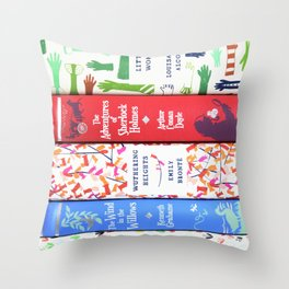 Pretty Book Stack Part 2 Throw Pillow