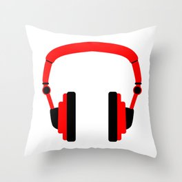 Pair Of Headphones Throw Pillow
