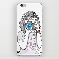 The heart and mind are the true lens of the camera. iPhone & iPod Skin