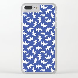 Birds Drawing Pattern Design Clear iPhone Case