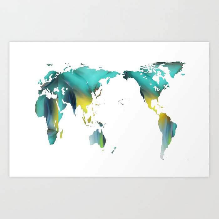 Map Of Just Asia.Asia Pacific Centric Map Art Print By Marlenewatson Society6