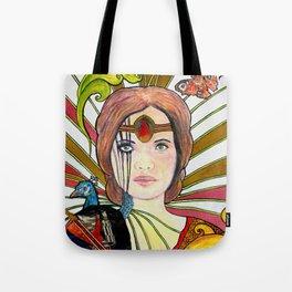 La jeune fille au paon (the peacock maiden) Tote Bag