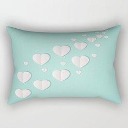 AFE Paper Hearts Rectangular Pillow