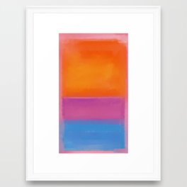 Rothko Interpretation Orange Blue Framed Art Print