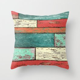 Cubic Wood Throw Pillow