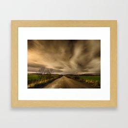 The Empty Road Framed Art Print