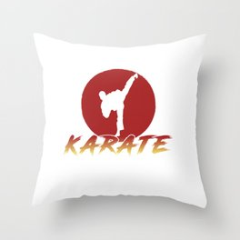 Karate Fighting Present Gift Self Defense Throw Pillow