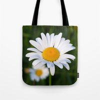daisies Tote Bags featuring Daisies by Rose Etiennette