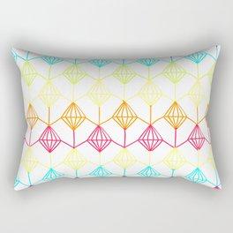 Neon diamonds pattern Rectangular Pillow