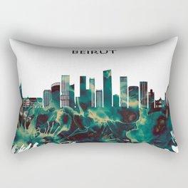 Beirut Skyline Rectangular Pillow