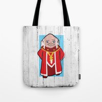 dungeons and dragons Tote Bags featuring DUNGEONS & DRAGONS - DUNGEON MASTER by Zorio