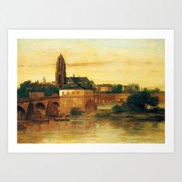 Gustave Courbet - View of Frankfurt am Main Art Print