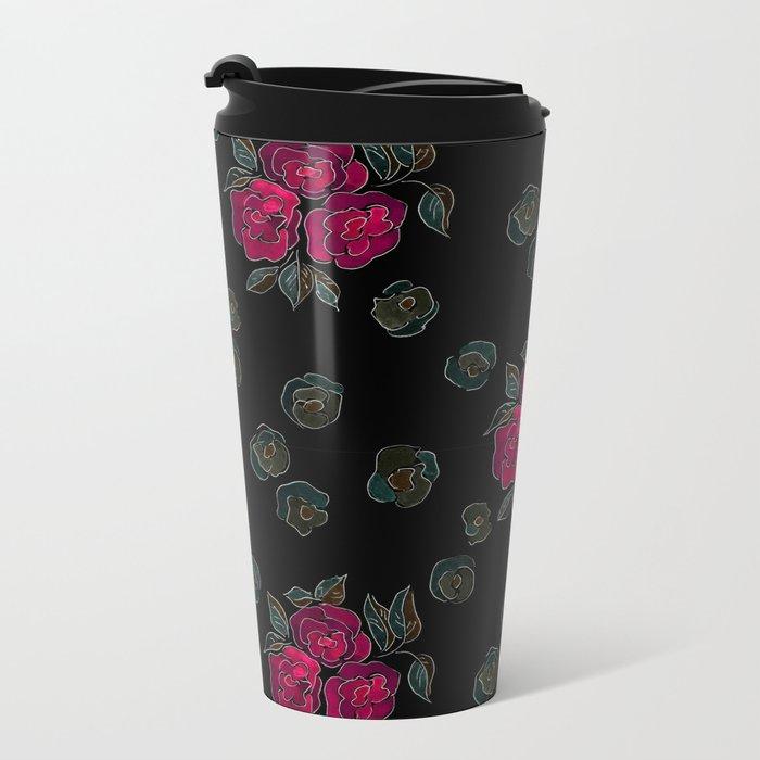 Watercolor. Rose .11 Travel Mug